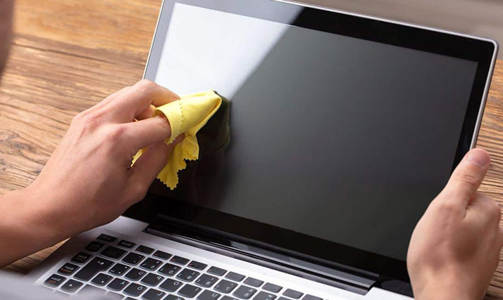 remove marks from laptop screen