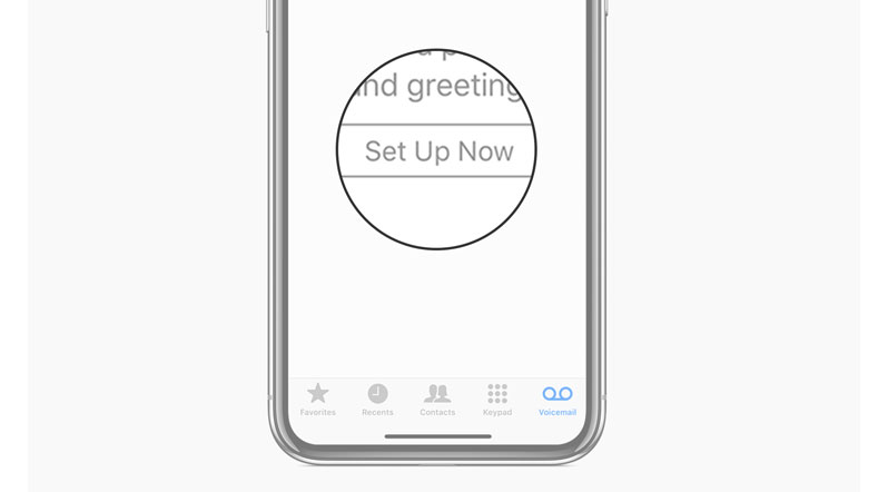 set up voicemail on iphone